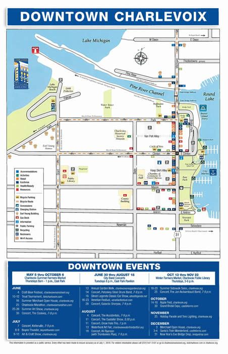 Downtown Map with Businesses plotted (PDF)