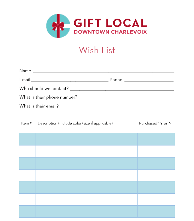 gift local wish list photo
